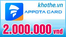 Mua Thẻ Appota Online - Thanh Toán Tiện Lợi - Nhận Thẻ Sau 3 Phút