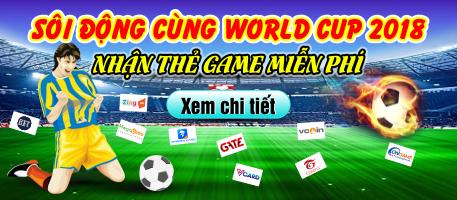 World Cup 2018: Nhận thẻ game miễn phí