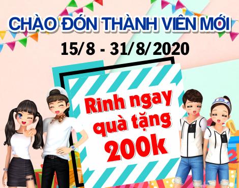 Chào đón thành viên mới – rinh  ngay quà tặng 200k