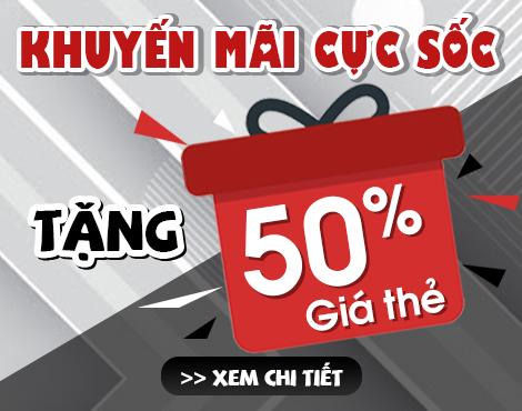 Tặng 50% giá thẻ mừng sinh nhật game thủ Việt