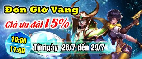 Đón GIờ Vàng - Giá Ưu Đãi 15%