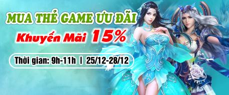 Mua Thẻ Game Ưu Đãi - Khuyến Mãi 15%