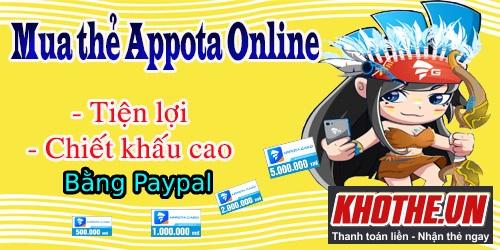 Nạp Thẻ Appota Bằng Paypal - Đến Ngay Khothe.vn