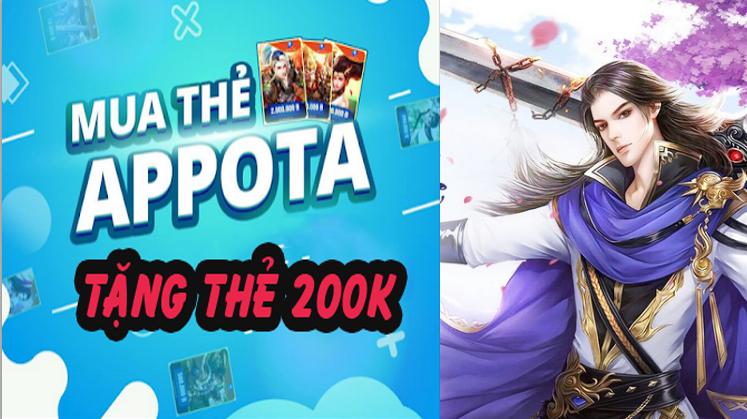 Mua thẻ Appota online- tặng ngay thẻ 200k miễn phí