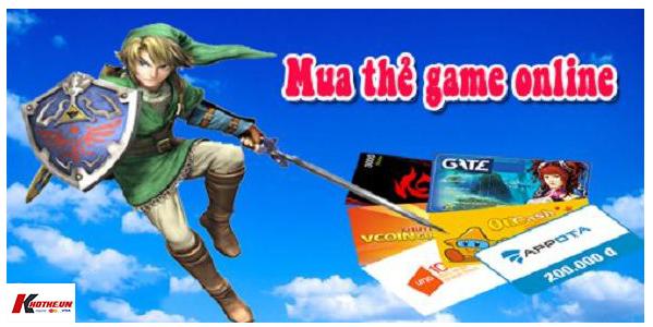 Mua thẻ game online chiết khấu cao tại Khothe.vn
