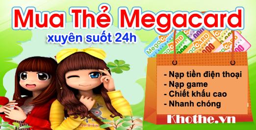 Mua Thẻ Megacard Online Xuyên Suốt 24h