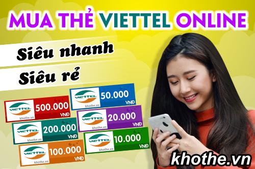 Mua Thẻ Viettel Online Siêu Nhanh Siêu Rẻ