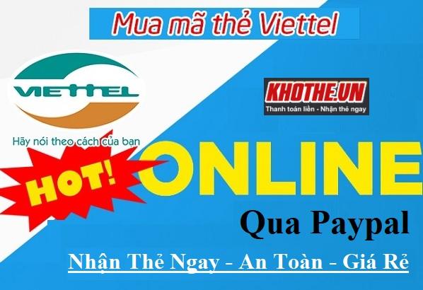 Bỏ Túi Ngay Cách Mua Thẻ Viettel Online Qua Paypal Rẻ Nhất 2021