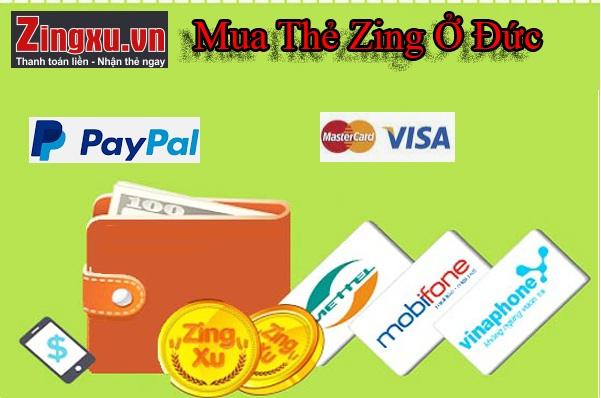 Mua Thẻ Zing Ở Đức - Nạp Thẻ Zing Bằng Paypal