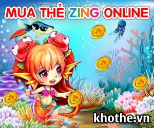 """Mua thẻ zing online """"vi vu"""" chơi game VNG"""