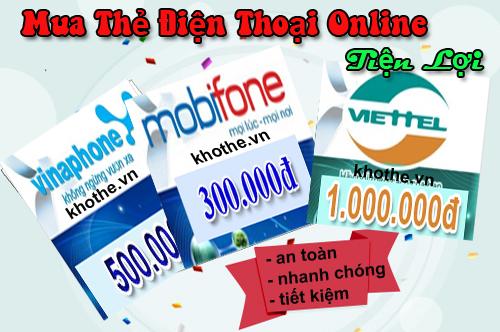 Mua thẻ điện thoại giá rẻ uy tín tại khothe.vn