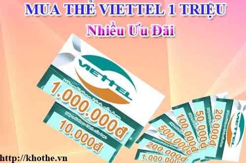 Mua Thẻ Viettel 1 Triệu Nhiều Ưu Đãi Tại Khothe.vn