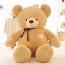 Gấu Bông Teddy Đeo Nơ Trái Tim