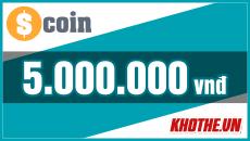 Thẻ Scoin 5 triệu