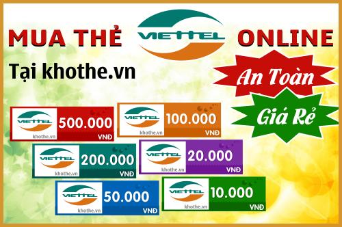 Mua thẻ viettel online hiện nay được nhiều người sử dụng