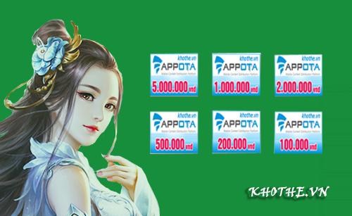 Khothe.vn là địa chỉ cung cấp thẻ appota nhanh chóng trên thị trường